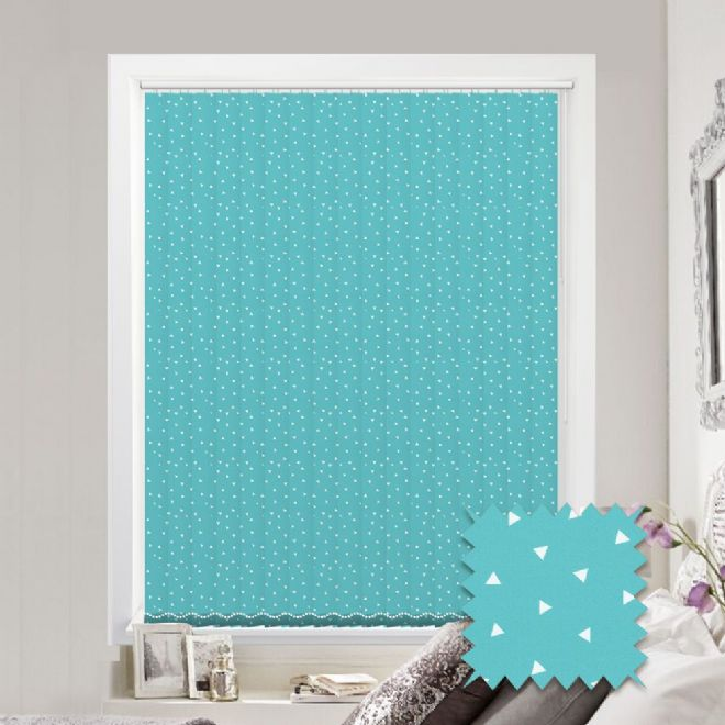 Made to Measure Pico Turquoise Vertical Blind - Just blinds